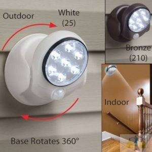 Cordless Outdoor LED Motion Sensor Light 7-LED
