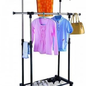 Double Pole Cloth Rack3