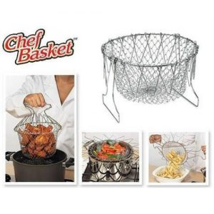 Foldable Chef Basket Strainer Net Kitchen Cooking Tool