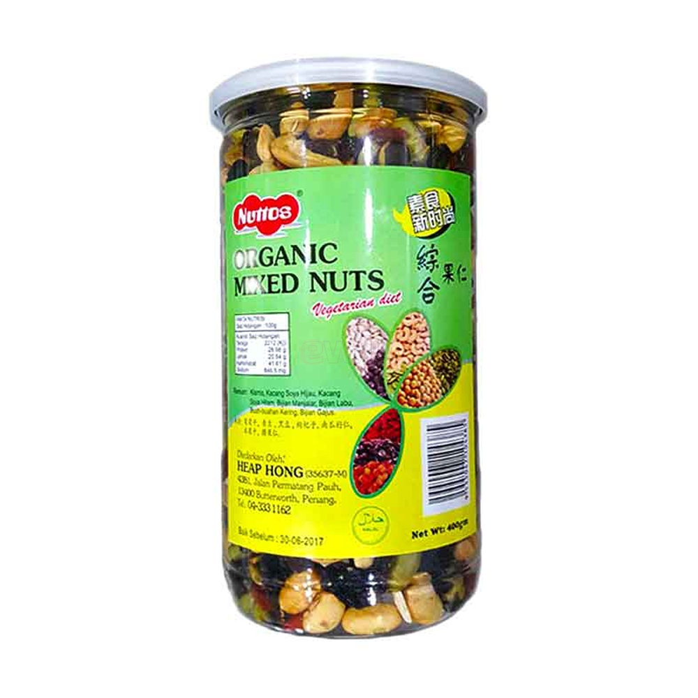 Organic Mixed Nuts 400gm, Made in Malaysia